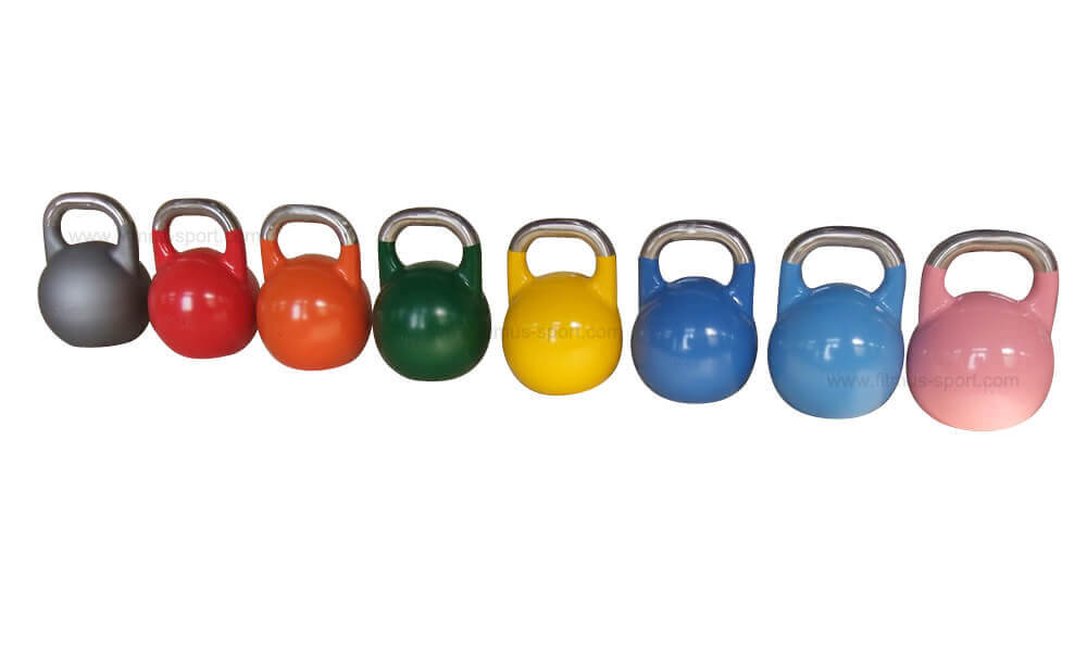 PRO-Grade-Competition-Kettlebell-with-a-stainless-steel-handle-colorful