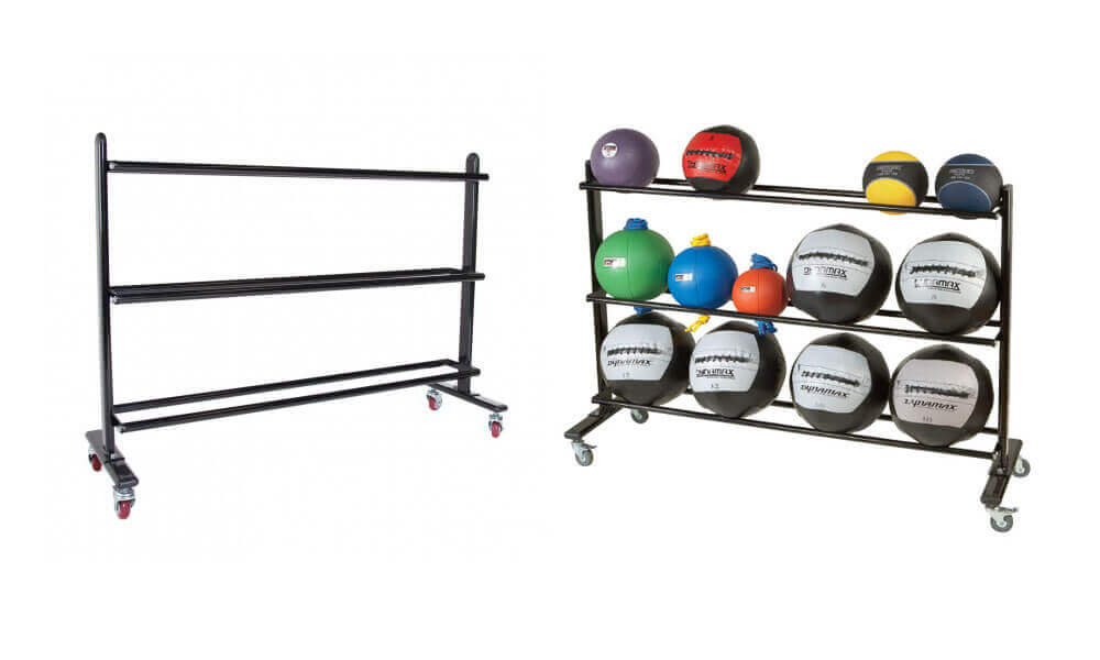 Wall Ball Storage Standing Rack with Wheel (1)