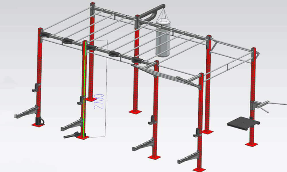 16'Crossfit Monkey Bar Rig Jungle Rig (1)