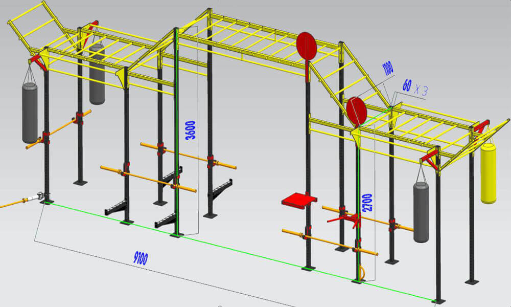 30'Crossfit Monkey Bar Rig Jungle Rig (1)