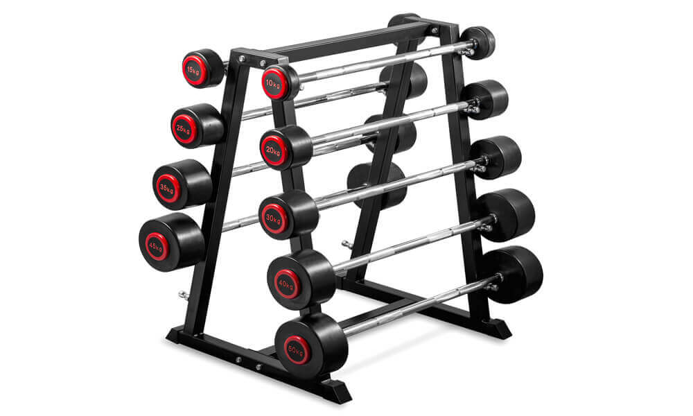 PU Barbells Sets With Rack (1)