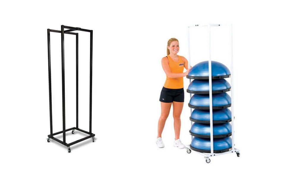 small storage rack for Bosu