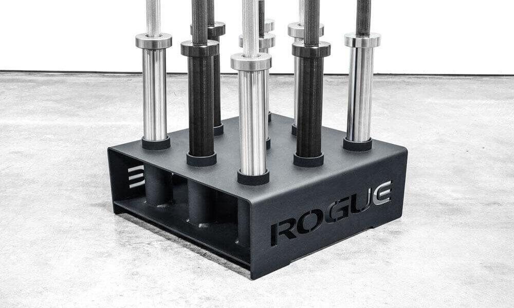 Vertical Barbell Storage Rack 9 Bar Holder