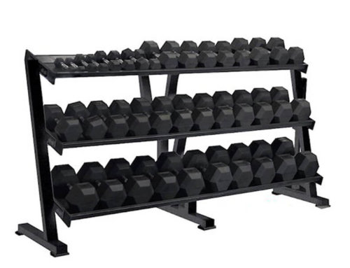 Commercial Grade 3 Tier Dumbbell Rack