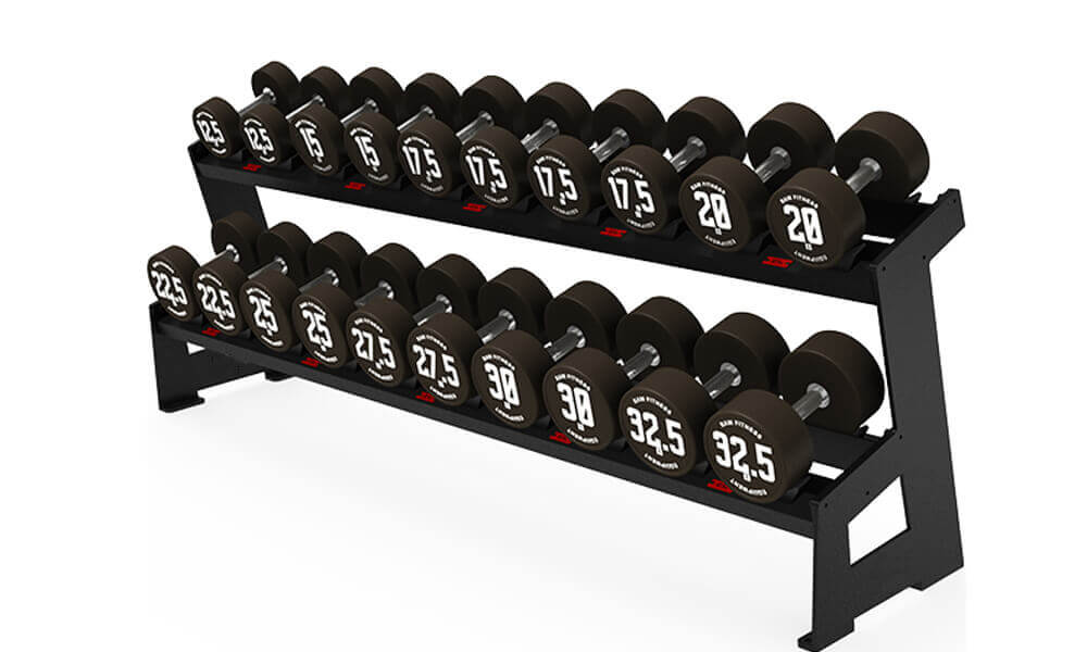 DUMBBELL RACK – ROUND TWO LAYER 10 PAIRS (1)