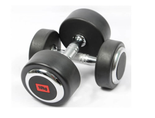 Round Rubber Dumbbells Fixed Weight Dumbbell