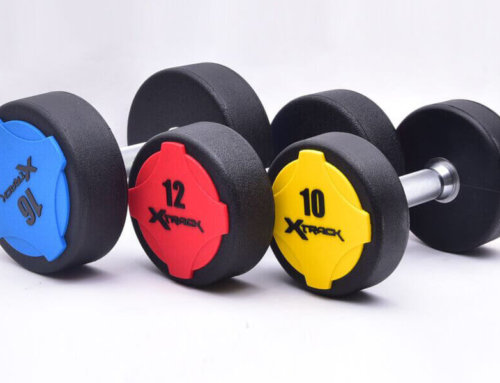 Urethane dumbbell weight set